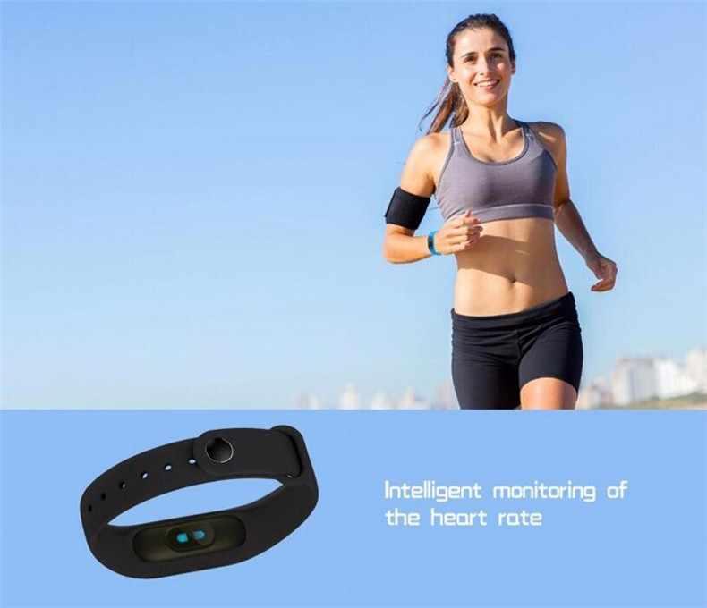 OllyMurs M2 Smart Band Fitness Bracelet moniteur de fréquence cardiaque montre hommes femmes Smartband activité Tracker pour IOS/Xiaomi/Honor