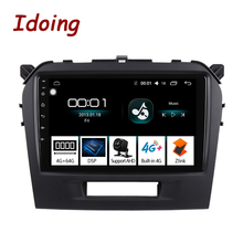 "Idoing 9 ""4G + 64G 2.5D IPS 8Core רכב אנדרואיד 8.1 רדיו נגן לסוזוקי גרנד vitara 2014 2016 GPS ניווט GLONASS לא 2 דין"