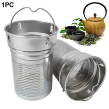 Drinking Bottle Spice Portable Stainless Steel Laser Hole Hiking Tea Infusers Tea Strainer Non-rust Two Mesh Cup Filter Office(China)