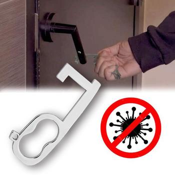 6-w kształcie która pozwala na stosowanie go w strefach aseptycznych mechanizm otwierania drzwi środki przeciwdrobnoustrojowe przed kontaktem z mechanizm otwierania drzwi przenośny mechanizm otwierania drzwi windy narzędzie drzwi uchwyt klucz tanie i dobre opinie Automatyczne bram Door opener Automatic Door Operators Metal Contactless door opener
