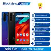 Globalna wersja Blackview A80 Pro Quad tylna kamera octa core 4GB + 64GB telefon komórkowy 6.49 'waterdrop 4680mAh 4G Celular Smartphone