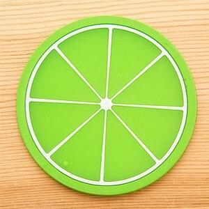 Image 5 - פירות Coaster צבעוני סיליקון משקאות מחזיק כוס מחצלת שולחן מפית מחצלת מכונית אוניברסלי אבזרים