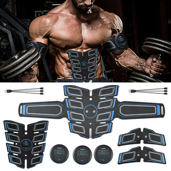 EMS Fitness Eight Pack Abdominal Patch Muscle Stimulator Trainer Equipment Training Gear Electrostimulator Exercise Home Gym