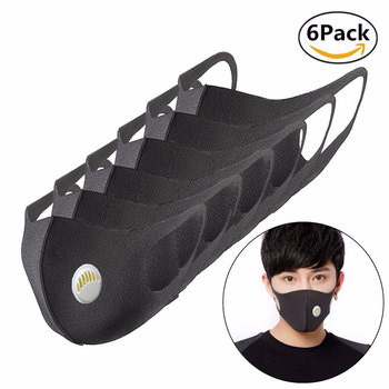 PM2.5 Washable Mouth Mask Anti Haze Dust Mask Nose Filter Windproof Face Anti Bacteria Flu Ice Silk Cotton Respirator