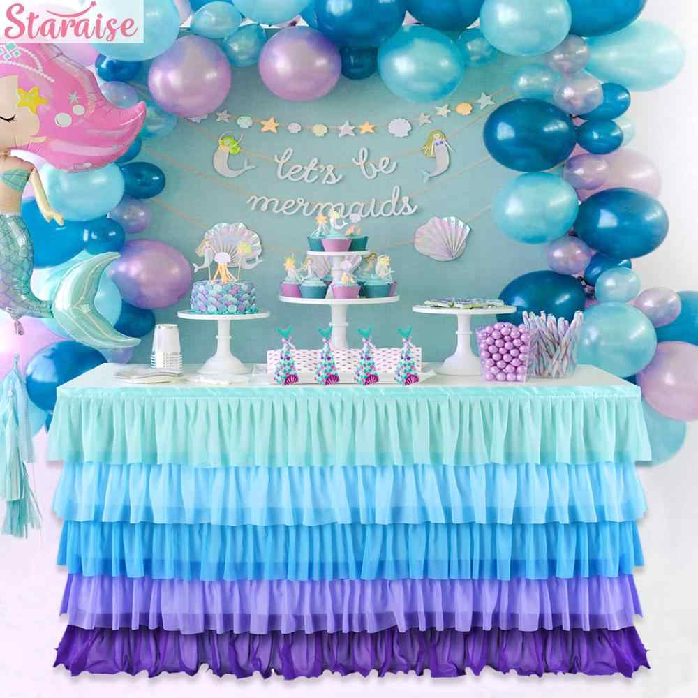 Staraise Little Mermaid Party Supplies Birthday Party Decoration Kids Birthday Favor Mermaid Game Party Decoration Guest Gifts