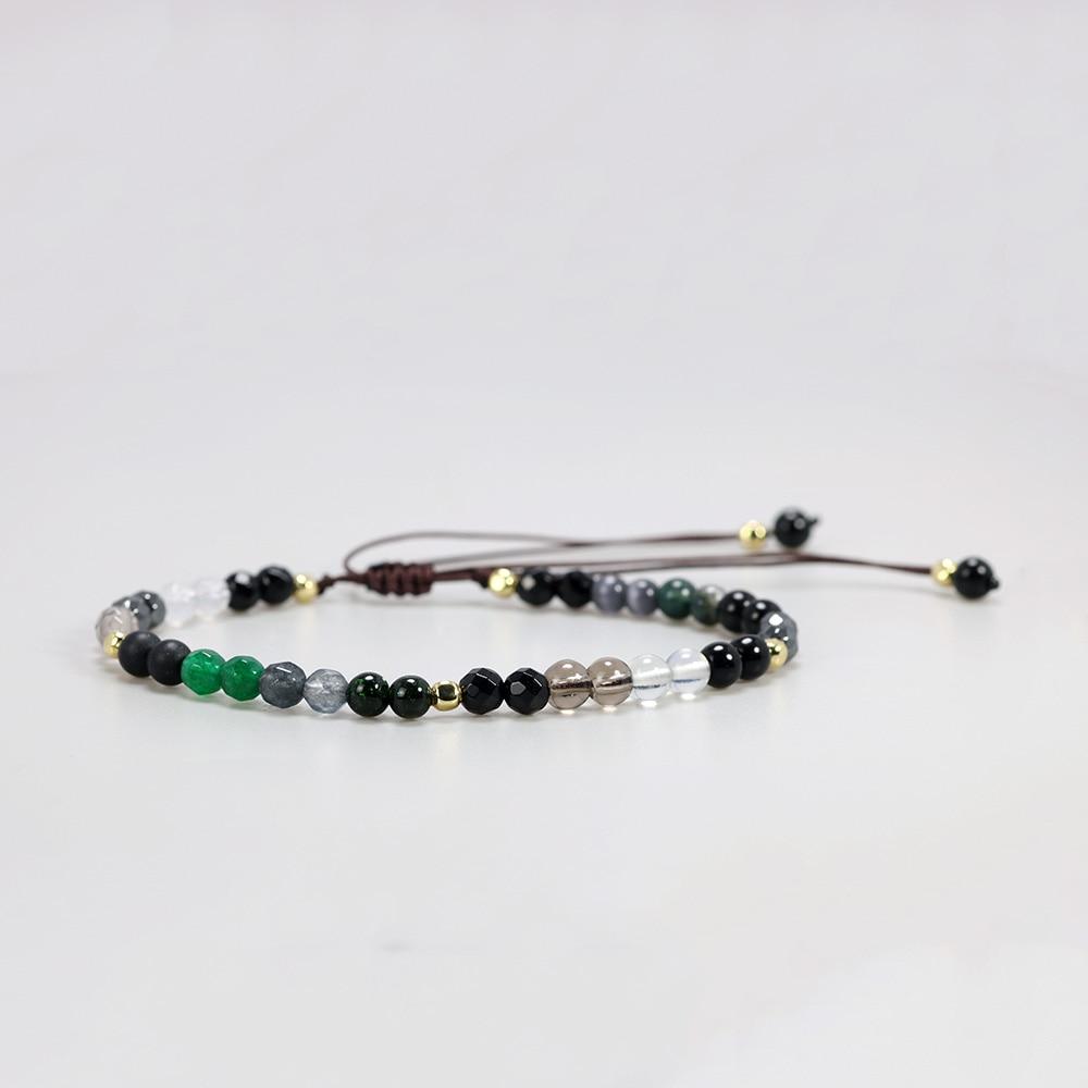 4mm Natural Multi Gemstones Beads Bracelet For Women MARCASITE Stones Yoga Chakra Crystal Beaded Bracelets Handmade Jewelry