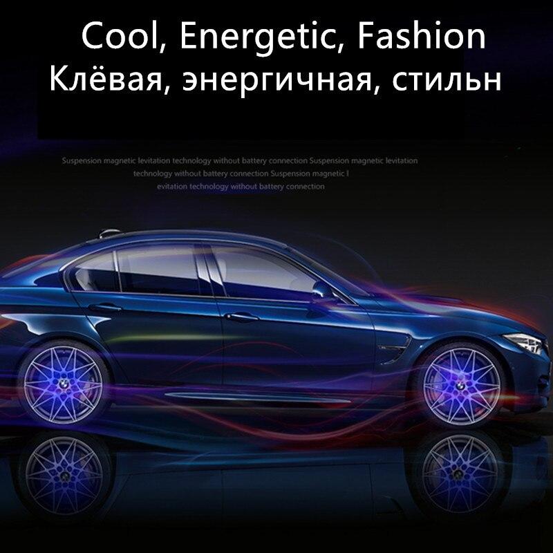 4PCS/SET Wheel Center Hub Car Floating Illumination Wheel Caps LED Light Center Cover Lighting Cap For BMW Benz Audi Lexus Honda