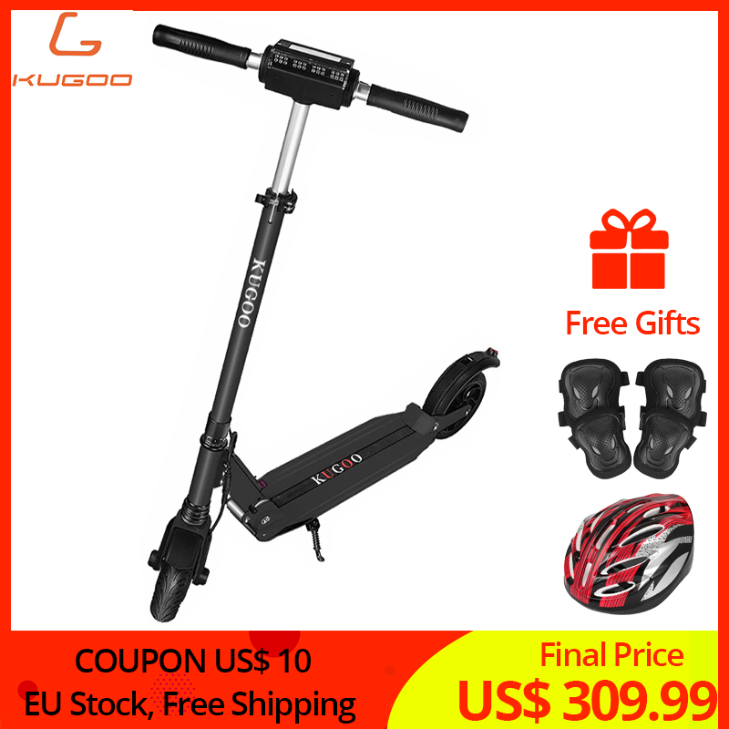 EU Stock and Warranty KUGOO S1 patinetas electricas scooter Adult Folding Electric Scooter 350W 35km/h 30km Range 8 inch Tires