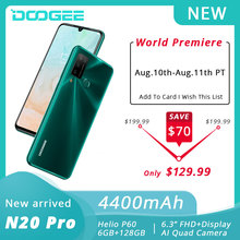 DOOGEE N20 Pro Mobile Phones Quad Camera Helio P60 Octa Core