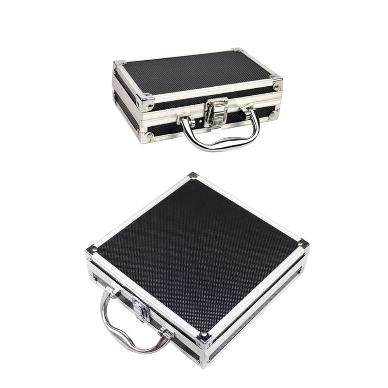 Portable Aluminum Alloy Tool Box Practical Storage Travel Carry Case With Sponge