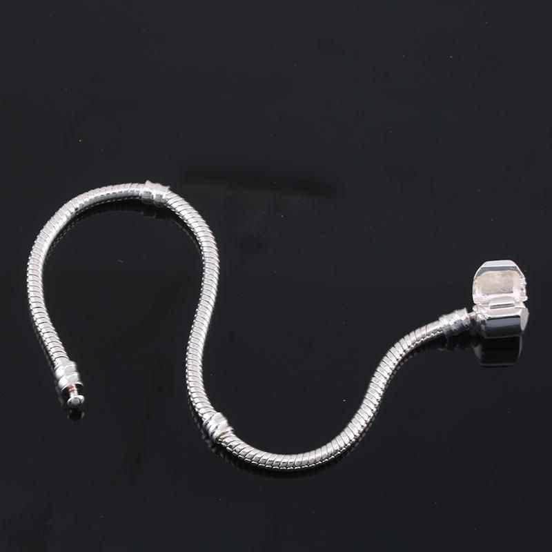 Originele 925 Sterling Zilveren Slang Bot Charm Armband Fijne Sieraden Basic Charm Armbanden Voor Vrouwen Mannen Party Diy Sieraden