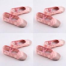 Популярная обувь для йоги, детские розовые балетки, танцевальная обувь, профессиональная Женская атласная обувь с острым носком, шелковая обувь