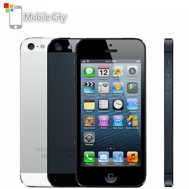 Original iPhone 5 Unlocked Mobile Phone 16GB/32GB/64GB ROM Dual-core 3G 4.0 inches 8MP Camera iCloud WIFI GPS IOS OS Cell Phones