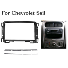 Top Quality Double Din Fascia For Chevrolet Sail Radio DVD Stereo Panel Dash Mount Install Trim Kit Refit Frame