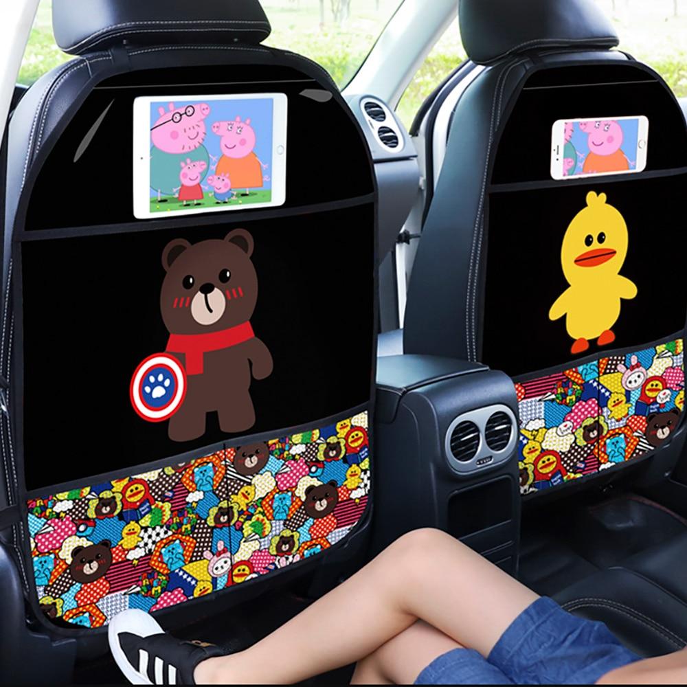 2020 Anti-kick Pad for Car Seat Backrest Children s Cartoon Protection Pad Premium Car Seat Protector Car Seat Back Protector