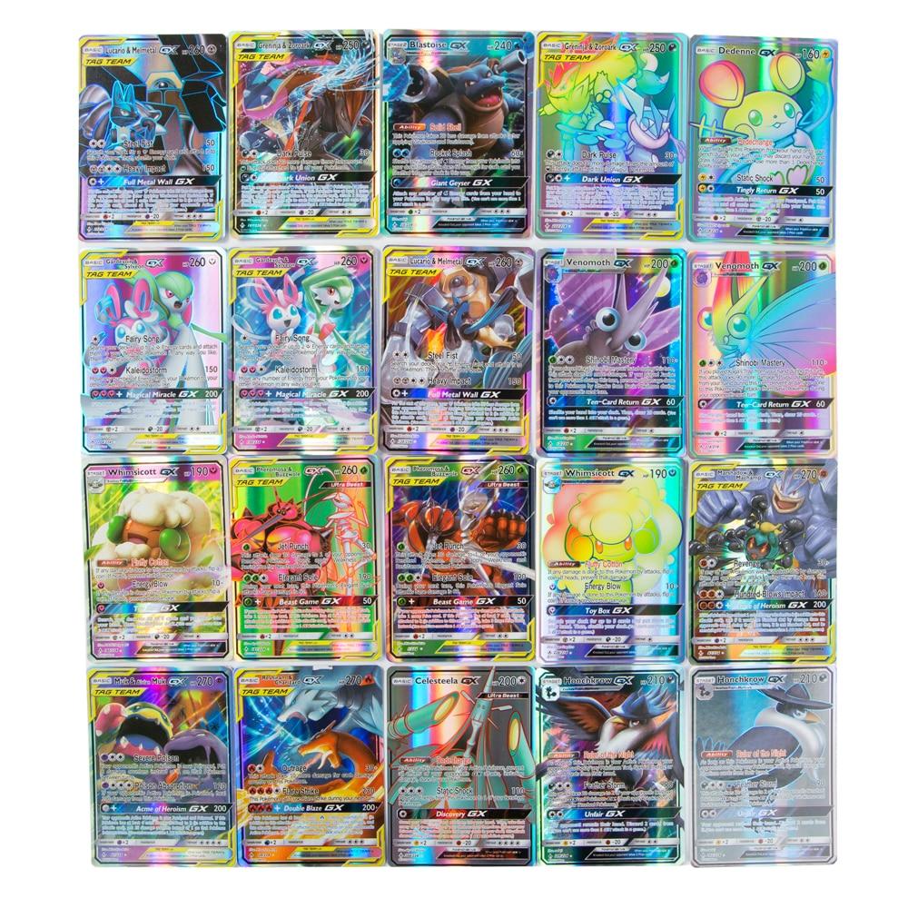 Покемон карточные игрушки (60VMAX 200 Gx 100 команды бирки 20 Мега 20 EX100 битва меню торговой игрушки