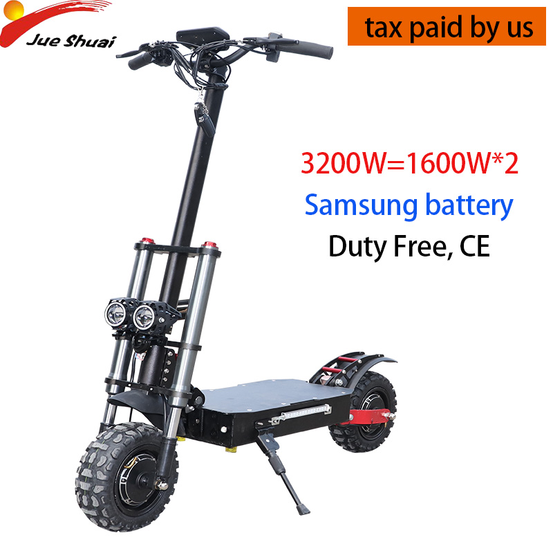 Electric <font><b>Scooter</b></font> 11inch Dual Motor E <font><b>Scooter</b></font> 60V <font><b>3200W</b></font> Off Road <font><b>Scooter</b></font> 80km/h Double Drive High Speed <font><b>Scooter</b></font> Long Skateboard image