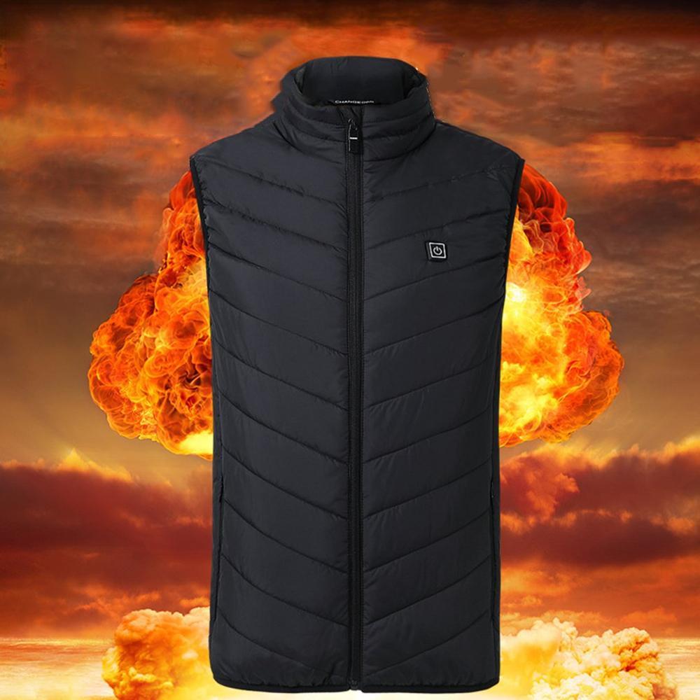 Heated-Vest Waistcoat Warm-Clothing Winter Women Heating Electric