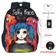 Sally Face USB Multi-function Bag Youth Rucksack Laptop Backpack Hip Hop Casual Travel 16 Inch backpack