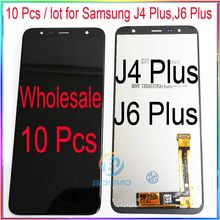 wholesale 10 Pcs / lot for samsung J4 Plus J415 J410 LCD Screen Display with Touch Digitizer Assembly J6 Plus J610