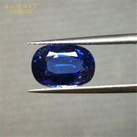 Saudi Arabia luxury wedding gemstone jewelry customization GIL 4.37ct Sri Lanka natural royal blue sapphire loose stone