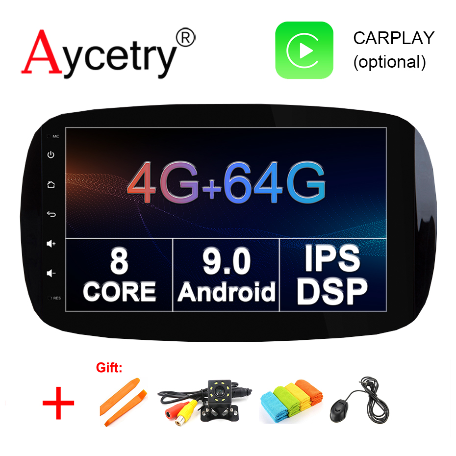 4G 64G IPS DSP Android 9 0 Car multimedia Player dvd GPS for Mercedes Benz Smart