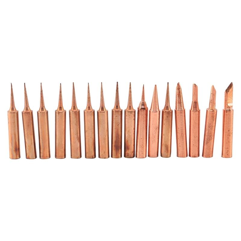 936 Soldering Iron Tip Pure Copper 900M Soldering Tip Set 16Pcs