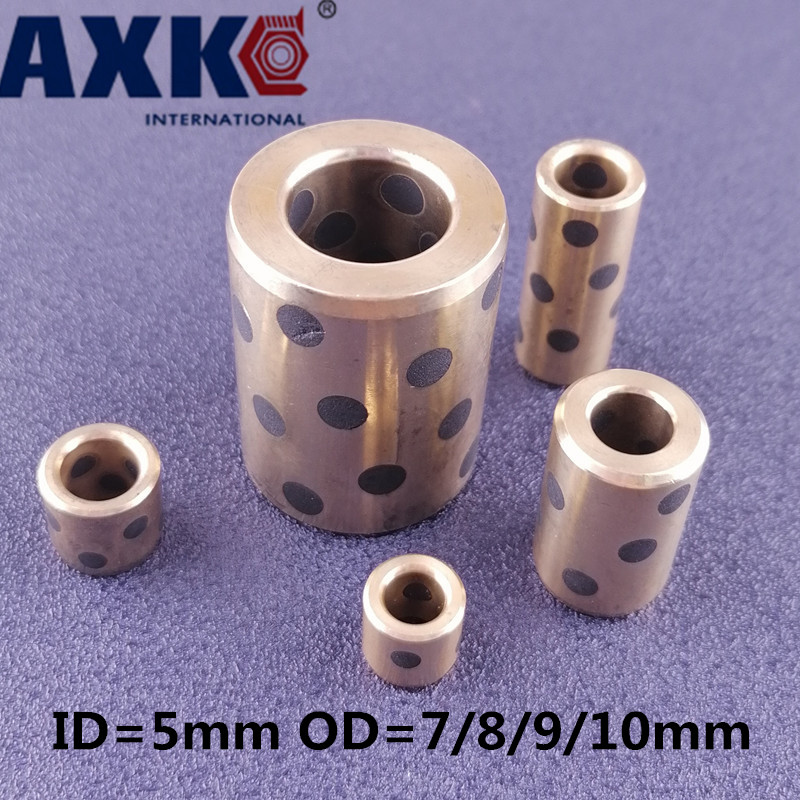 Ball Bearing 4/10pcs Lm5uu 5mm Linear Graphite Copper Set Bearing Bushing Oil Self lubricating JDB Free Shipping OD 7/8/9/10mm|Bearings| - AliExpress