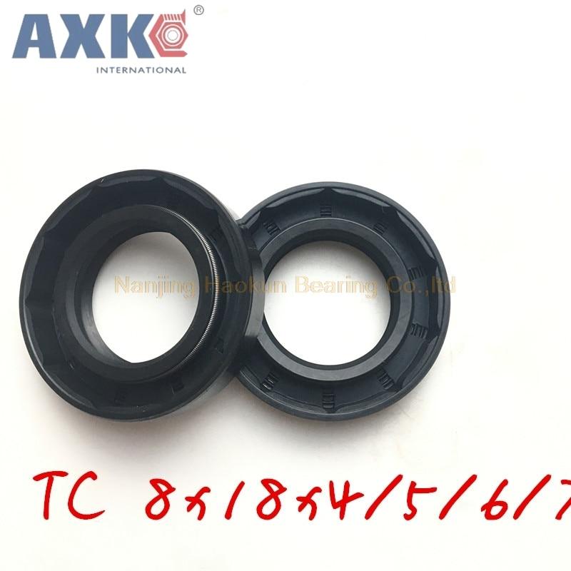10 pièces AXK TC 8x18x4 8x18x5 8x18x6 8x18x7 8x18x8 NBR 8X18 joints à huile squelette AXK joints de haute qualité radiaux joints darbre