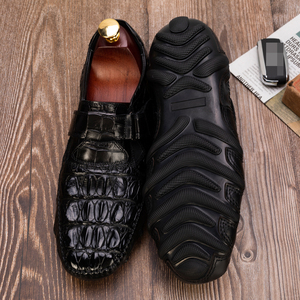 Image 3 - Crocodile Shoes Men Dress Genuine Leather High Quality Brand Original Design Party Wedding Luxury Mens Leisure Casual Shoes