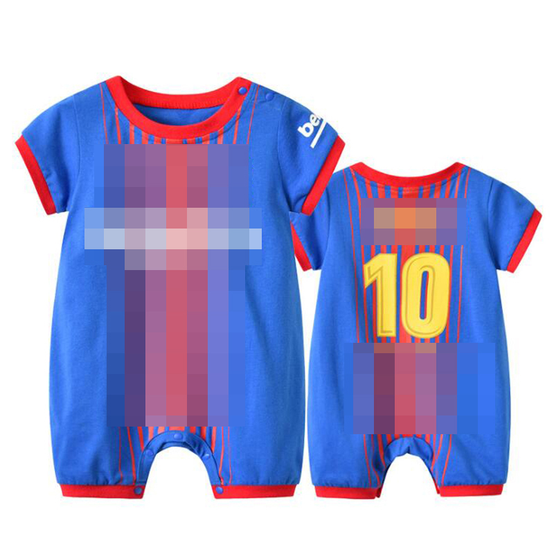 Newborn Babe Football Blue NO.10 Clothes Suit Infant   Romper   Boys Girl Onesie Garcon Outfit Baby Loose Sport Summer Jumpsuit