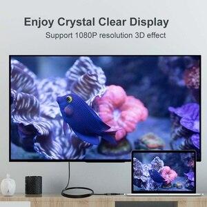 Image 3 - Cabo micro conversor fsu tipo fêmea, 1080p para hdtv, projetor de tv, macho para hdmi d micro câmera hdmi 15cm