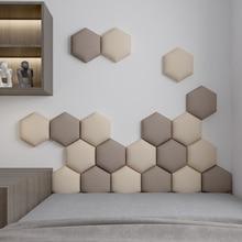 Multi-colour Hexagonal Headboard Bed Soft Bag Set 3D Wall Sticker Tatami Bed Headboards Wall Decor Aesthetic Home Decoration Art