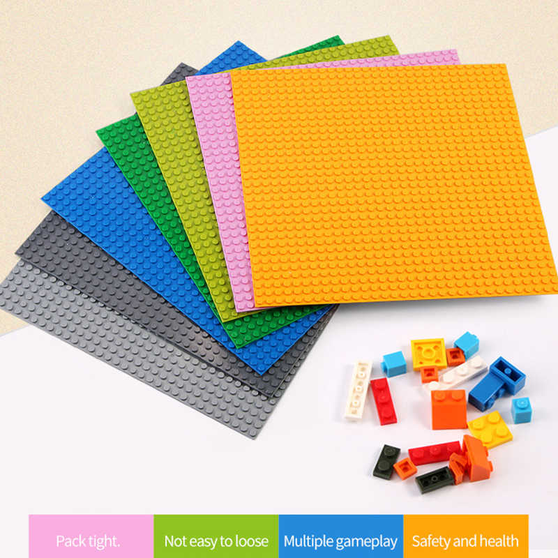Базовые пластины 16*16 32*32 точки 50*50 Совместимость legoings классический создатель города детали красочные строительные блоки legoplate детские игрушки