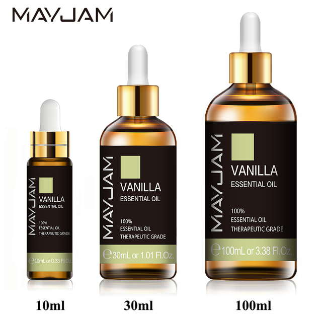 10ml 30ml 100ml Vanilla Essential Oil Diffuser Aroma Oil with Dropper Pure Natural Essential Oils for Humidifier Relief Migraine 1