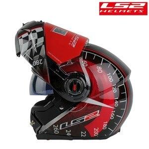 Image 4 - Originale LS2 FF370 Modulare Casco Del Motociclo Flip Up Uomo kask Capacete ls2 Con Doppia Visiera Da Corsa Casco Moto ECE Certificazione