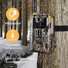New 4G Hunting Camera 20Mp 1080P Photo Traps Night Vision Wildlife infrared Hunting Trail Waterproof Cameras hunt Scout(China)