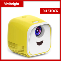 Vivibright портативный проектор WIFI USB проектор 1000 люмен 1080p HDMI видео проектор LCD для домашнего кинотеатра для детей подарок