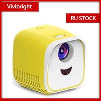 Vivibright proyector portátil WIFI USB proyector 1000 lúmenes 1080p HDMI Video proyector LCD para cine en casa para niños regalo