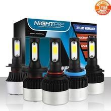 NOVSIGHT araba LED farlar H7 H4/HB2/9003 H8/H9/H11 HB3/9005 HB4/9006 sis ampuller H1 H3 72W 9000LM sis lambası D40