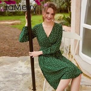 Image 5 - JaMerry Vestido corto de fiesta, Vintage, corto, acampanado, con hilera de botones, verde, cinta, highstreet, elegante