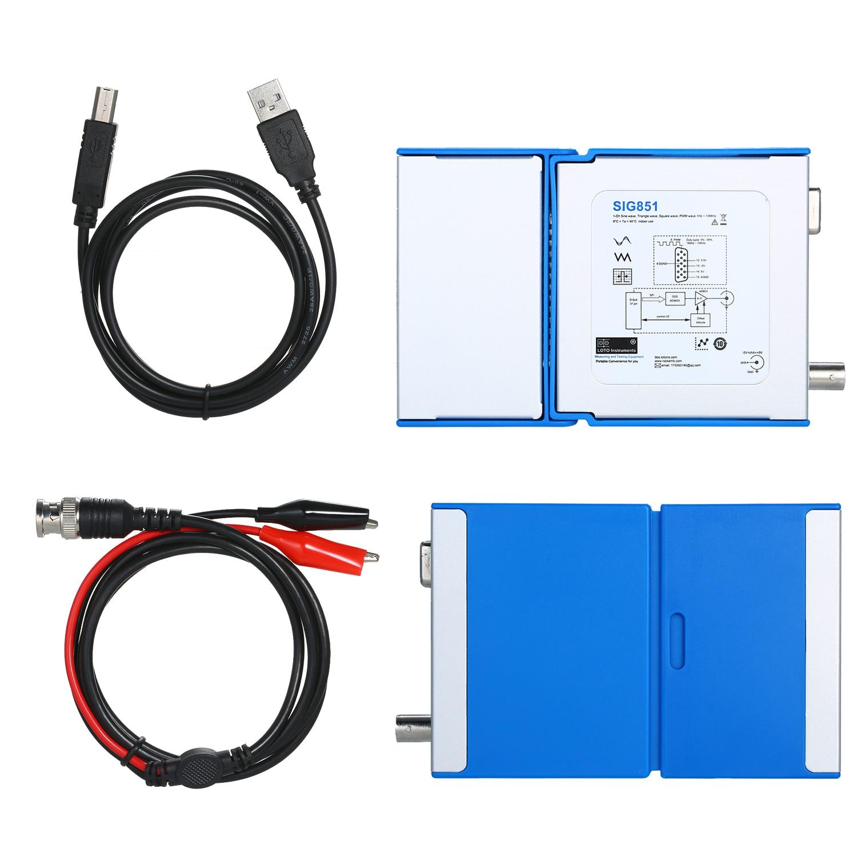 SIG851 multifonctionnel PC USB Mobile générateur de Signal numérique virtuel canal unique avec câble pince crocodile BNC