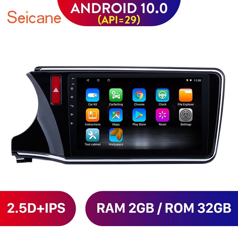 <font><b>Seicane</b></font> Android 10.0 Car Radio GPS Navigation Stereo Player for 2014 2015 2016 2017 <font><b>Honda</b></font> <font><b>CITY</b></font> Left Hand Drive 10.1 inch 2DIN image