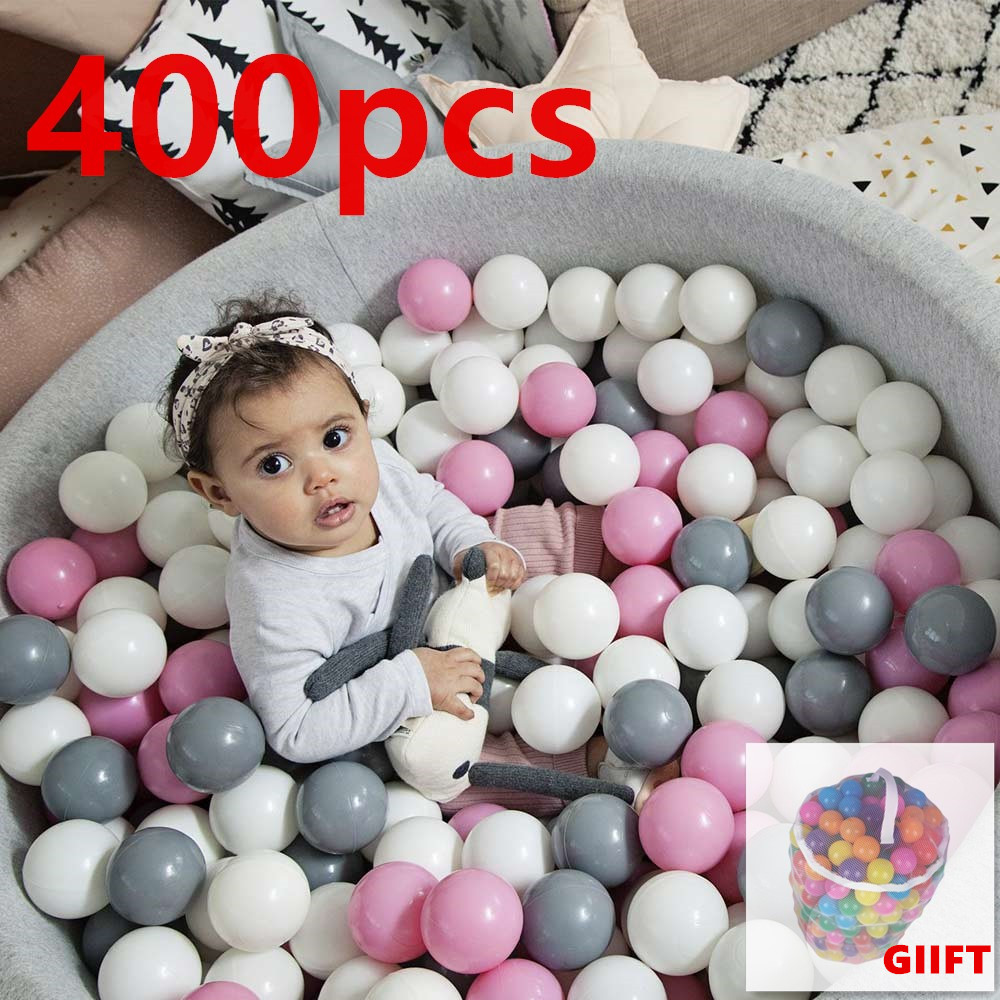 400 Pcs/Lot Eco-Friendly Colorful Balls Soft Plastic Ball Swim Pit Toys For Children Outdoor Balls Water Pool Ocean Wave Ball