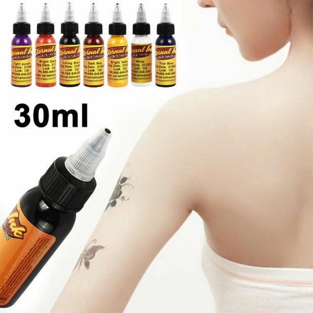BellyLady 30ML Professional Eternal Tattoo Ink DIY Monochrome Tattoo Pigment Practice Black Tattoo Ink Microblading Pigments 2