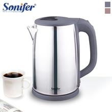 цены 2L Electric Kettle Stainless Steel Kettle Cordless 1500W Household Kitchen Fast Heating Boiling Teapot Pot 220V Sonifer