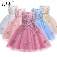 2019 Impresso princesa vestido Formal vestido de Noite Vestido de Casamento elegante Flor Meninas Vestem Crianças Vestidos de Festa de Crianças Para Roupas de Menina