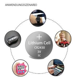 Image 2 - 5 X PKCELL 3V CR2430 lityum pil DL2430 5011LC KCR2430 L20 hücre düğmesi sikke pil için izle elektronik