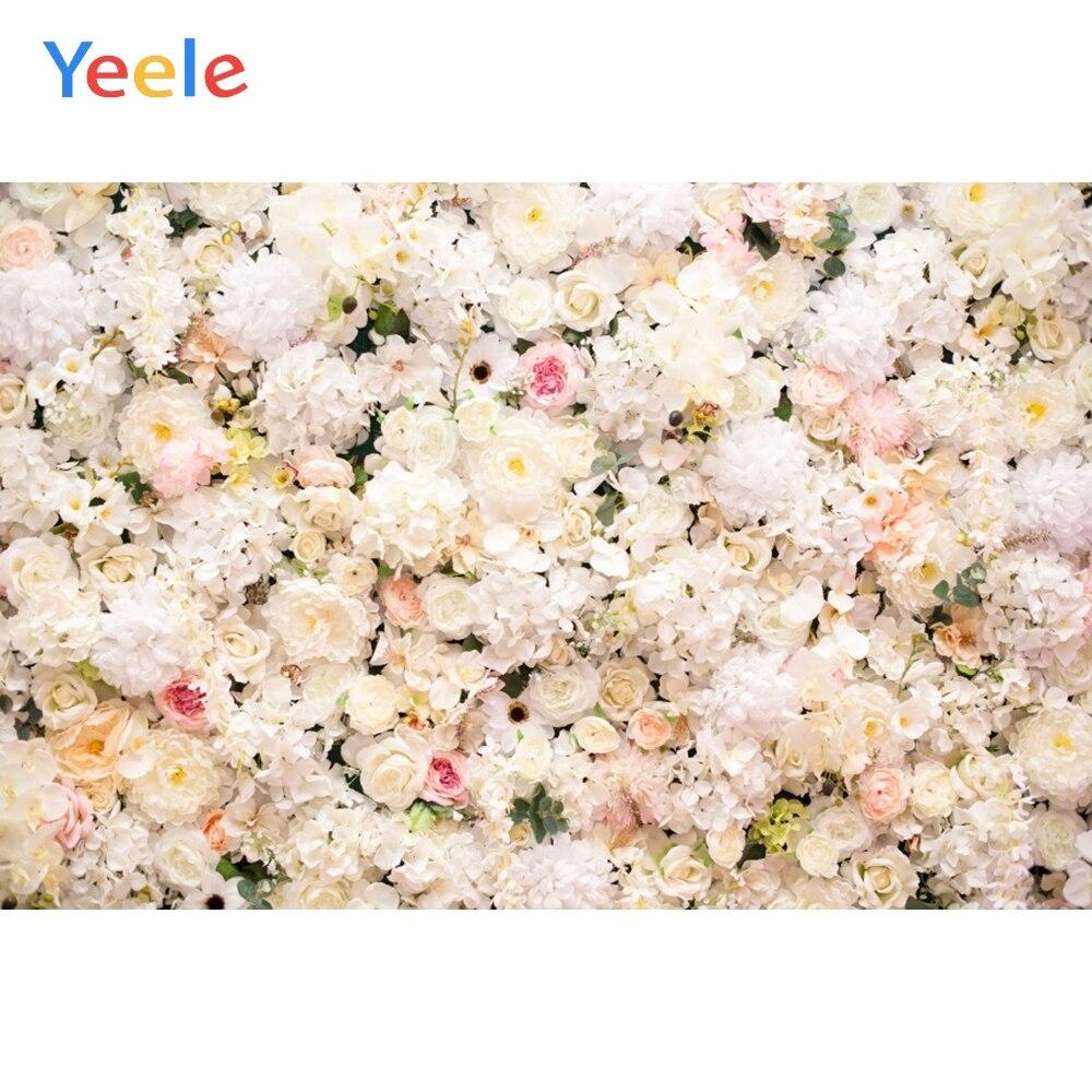 Yeele свадебные церемонии белая роза цветок стены партии фотографии фоны персонализированные фотографические фоны для фотостудии|Фон| | - AliExpress