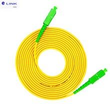 10pcs SC/APC SC/APC patch cord in fibra ottica SM Simplex 1M 2M 3M 5M 7M 10M SCA SCA ponticello in fibra ottica SX trasporto libero IL <0.3